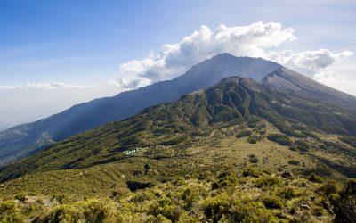 Mount Meru near Arusha in Tanzania. Africa.